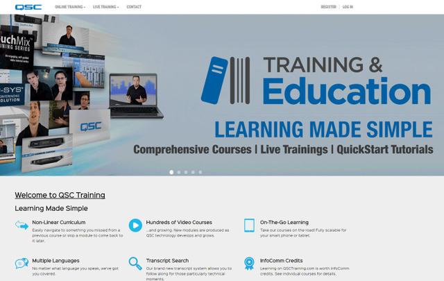 QSC kündigt neue Online-Trainingsplattform an - LightSoundJournal.de